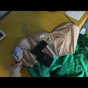 Herve Leger Green New Dress size 0